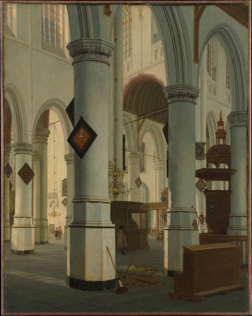 Interior of the Oude Kerk, Delft,1660 Hendrick van Vliet Dutch